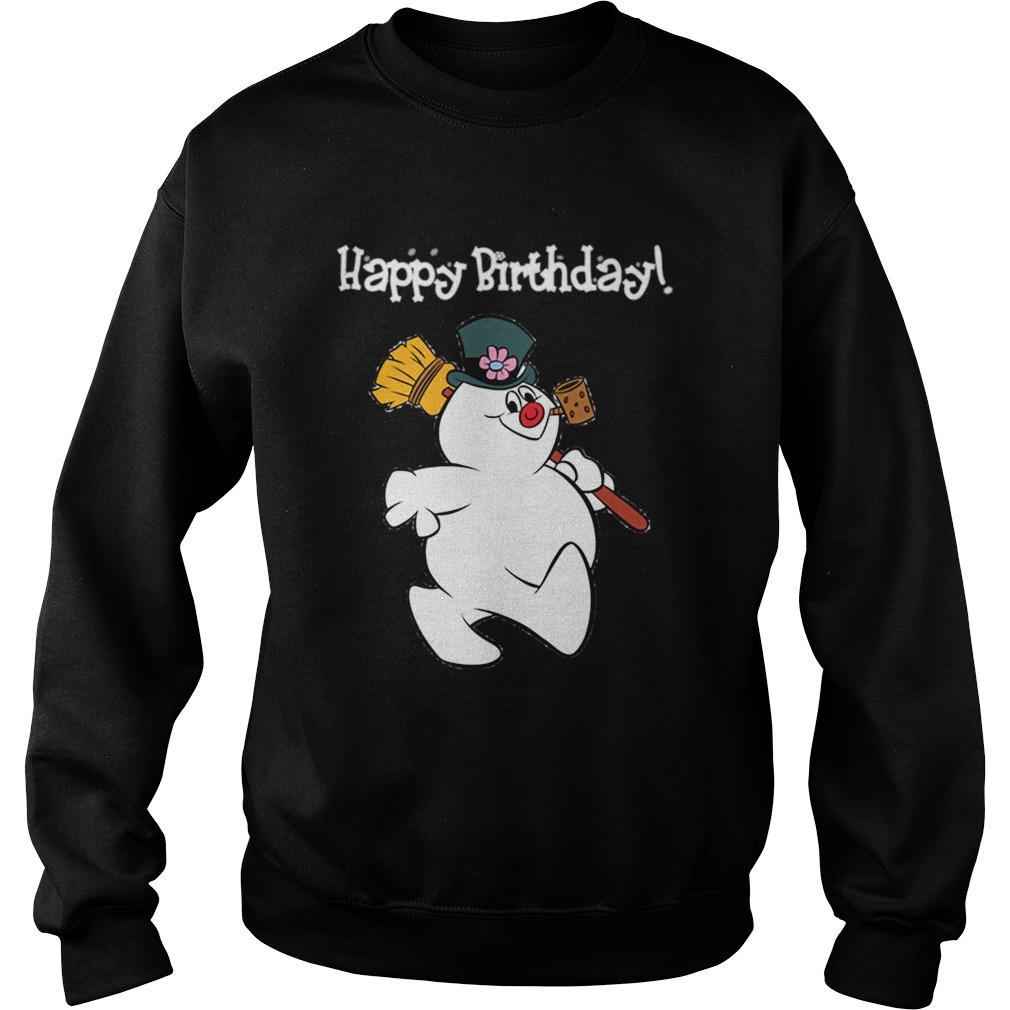 1573546805Frosty The Snowman Happy Birthday Christmas Graphic  Sweatshirt