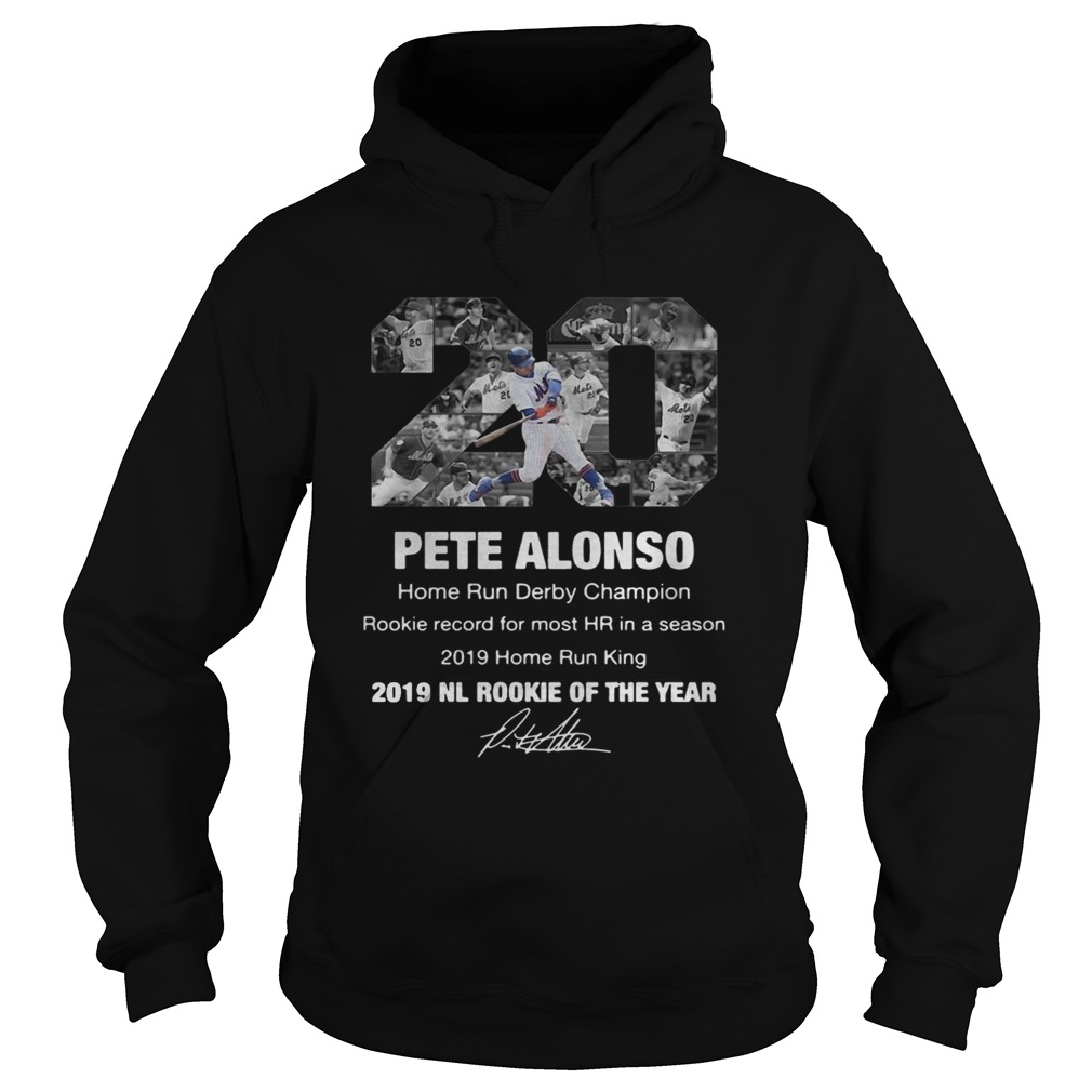 20 Pete Alonso 2019 NL Rookie of the year signature  Hoodie