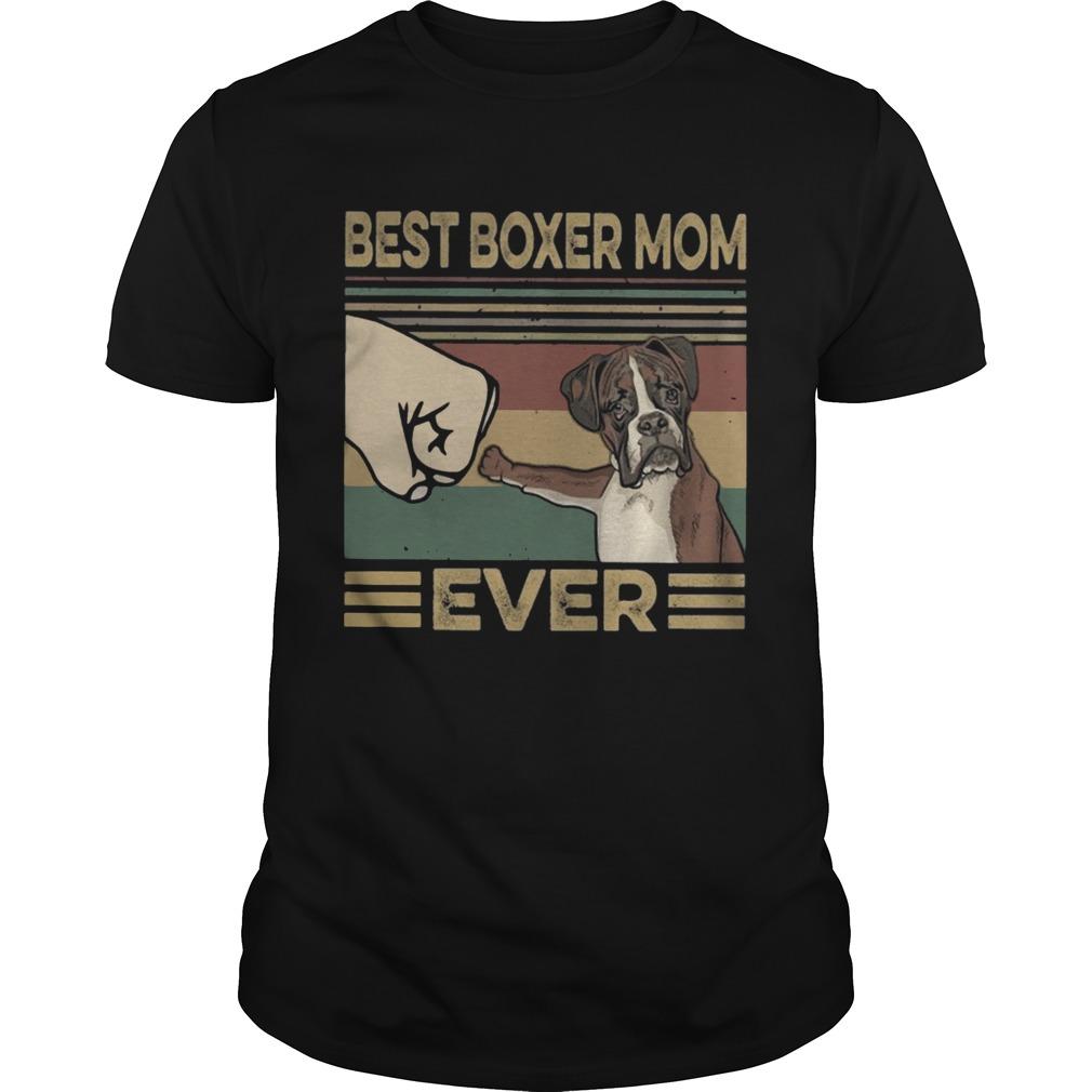 Vintage Best Boxer Mom Ever Unisex