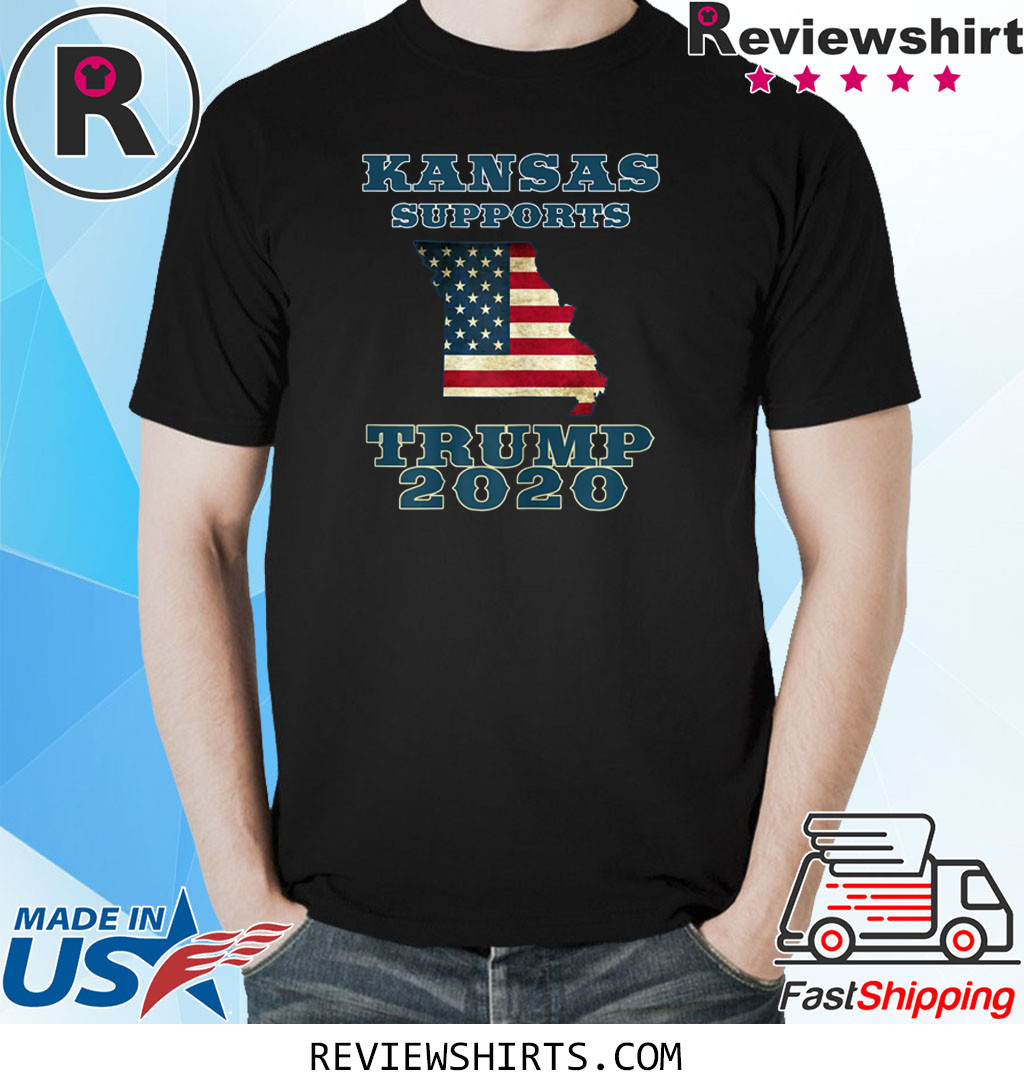 The Great State of Kansas Supports Trump 2020 T-Shirt