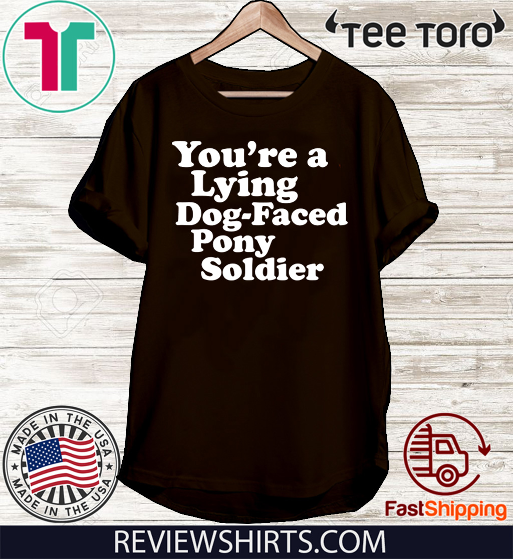 You're a Lying Dog-Faced Pony Soldier Joe Biden Meme Joke 2020 T-Shirt