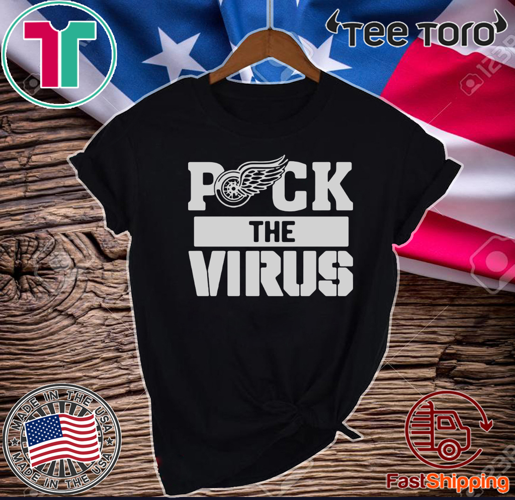 Detroit Red Wings Puck The Virus Official T-Shirt