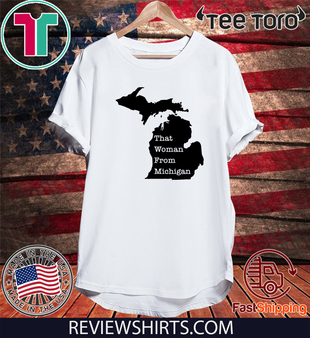 Woman From Michigan Map US T-Shirt