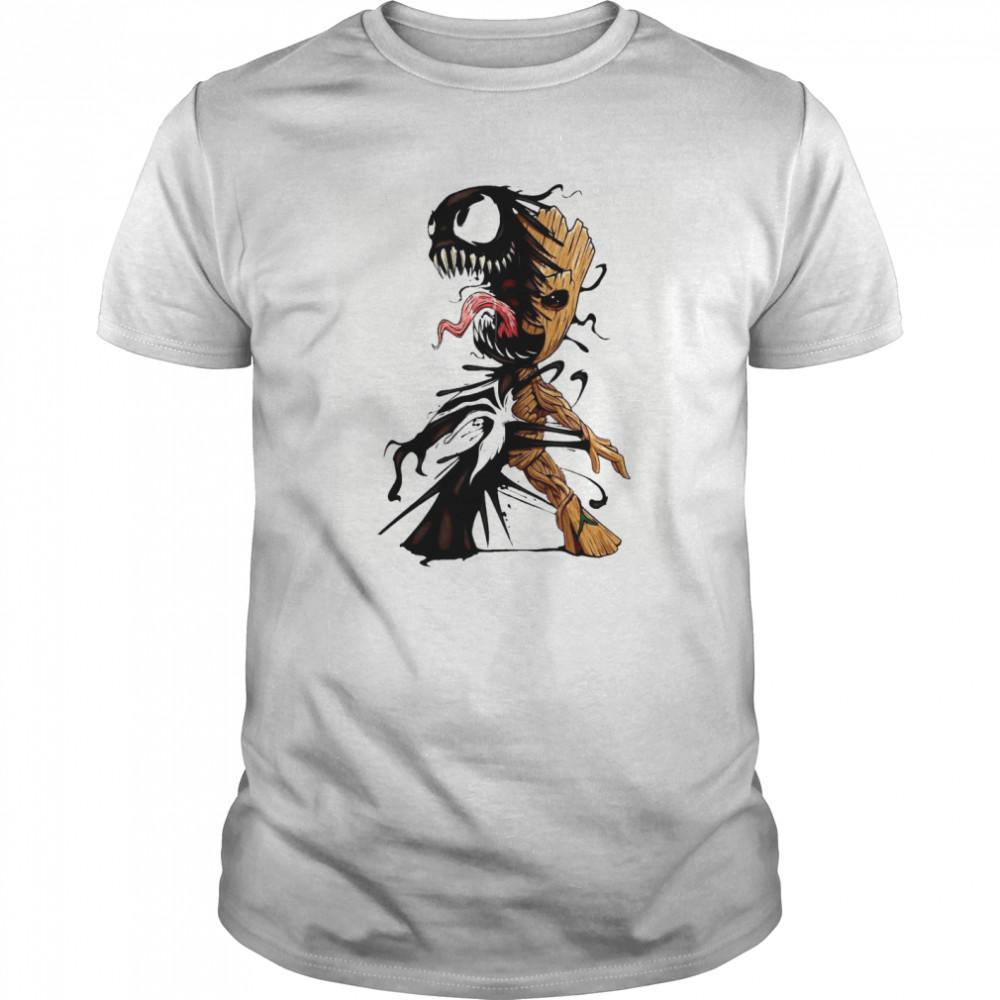 Baby Groot Venom Halloween Classic Men's T-shirt