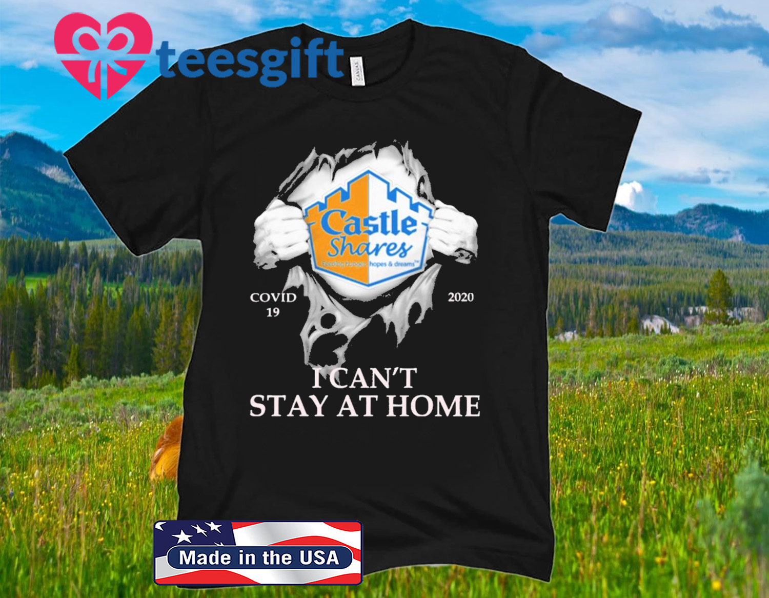 Blood inside me Castle shares covid 19 2020 i can't stay at home unisex shirt