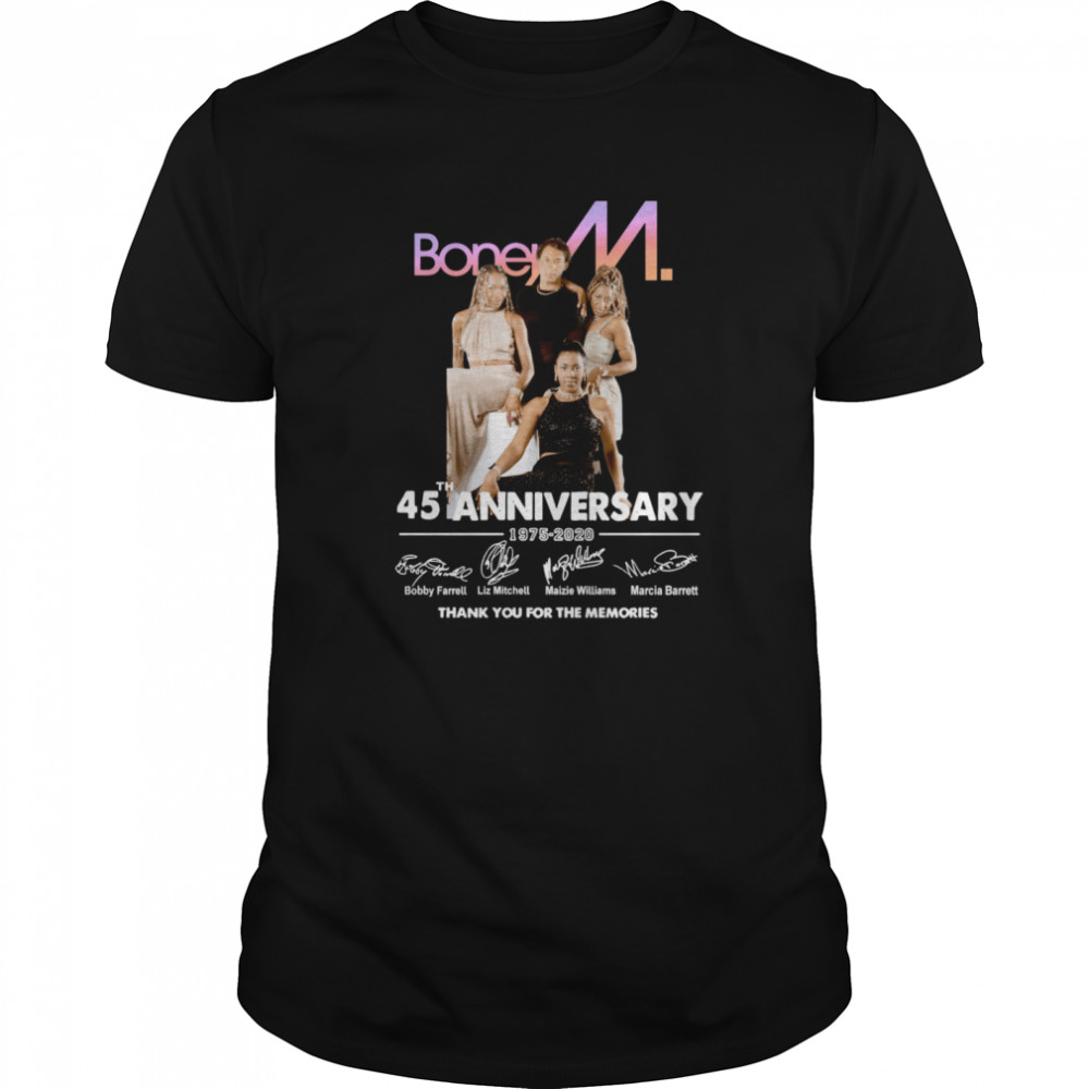 Boney M 45th Anniversary 1975 2020 Thank You Classic Men's T-shirt