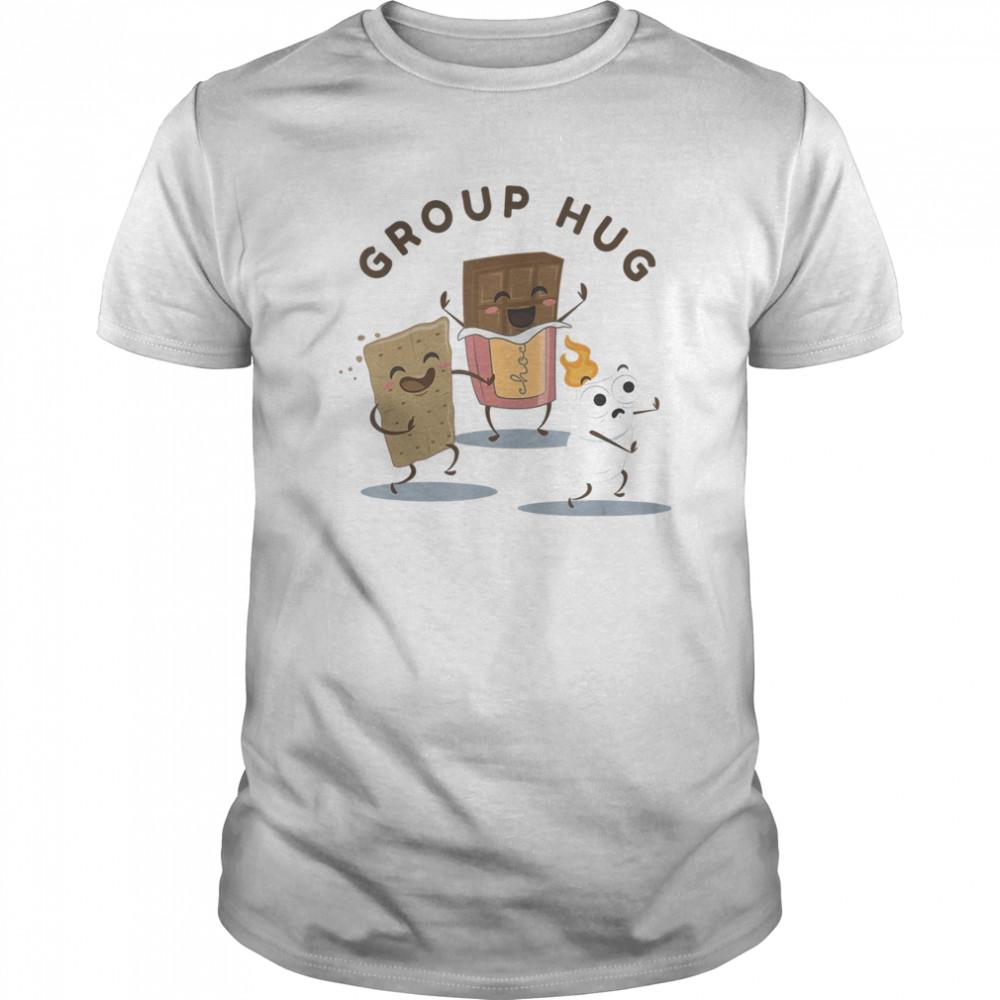 Camping S'mores Marshmallow Roasting Bonfire Funny Food Hug Classic Men's T-shirt