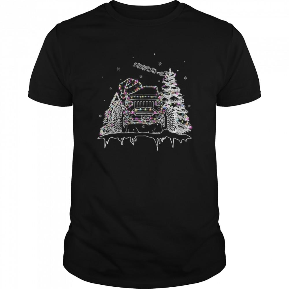 Christmas Jeep Light Classic Men's T-shirt