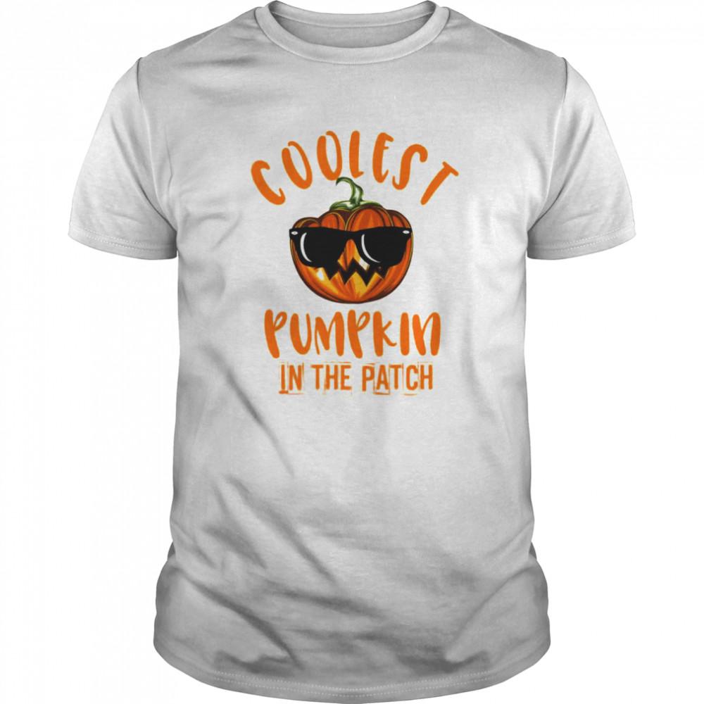 Coolest Pumpkin In The Patch Cute Halloween Costume Classic Men's T-shirt