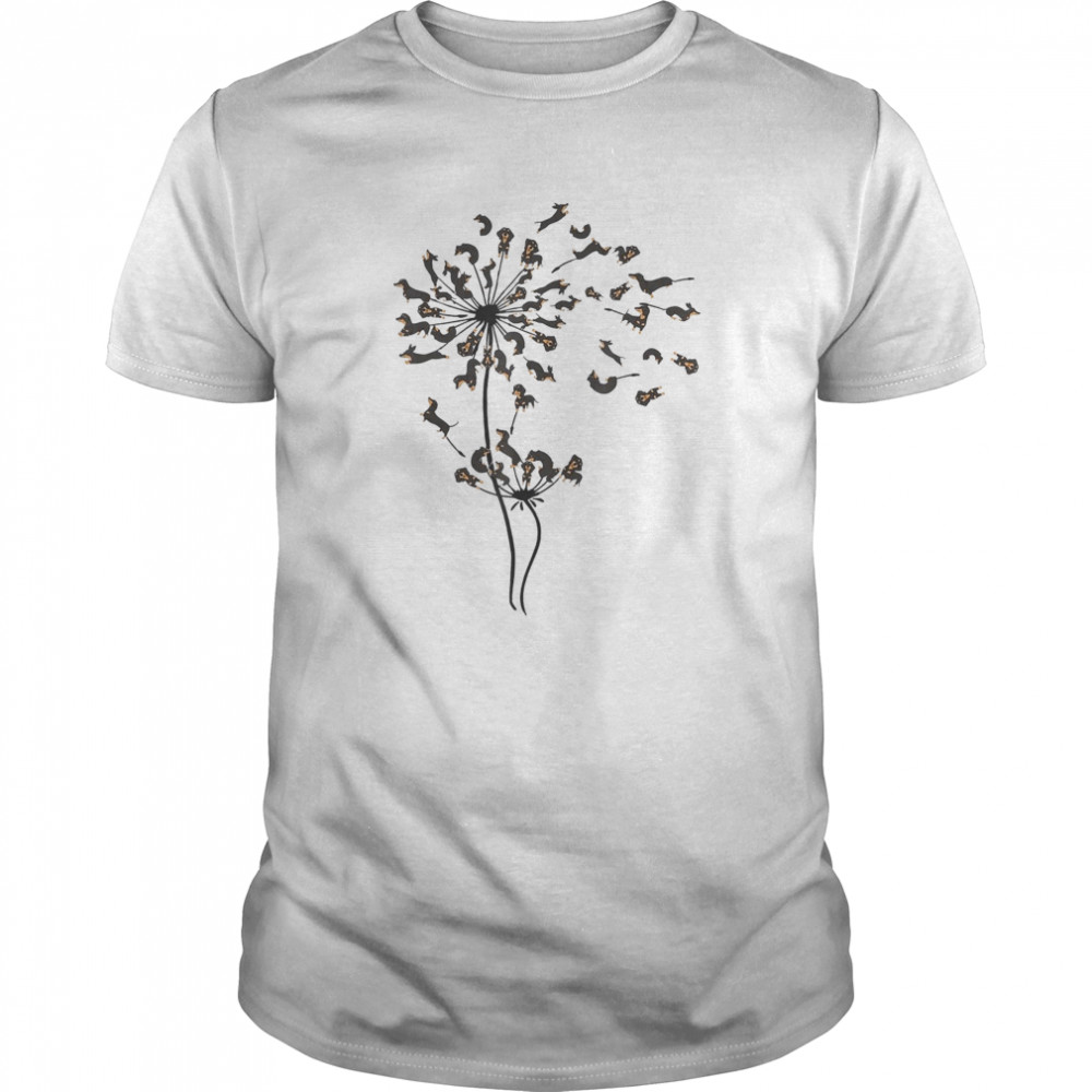 Dachshund Dandelion Classic Men's T-shirt