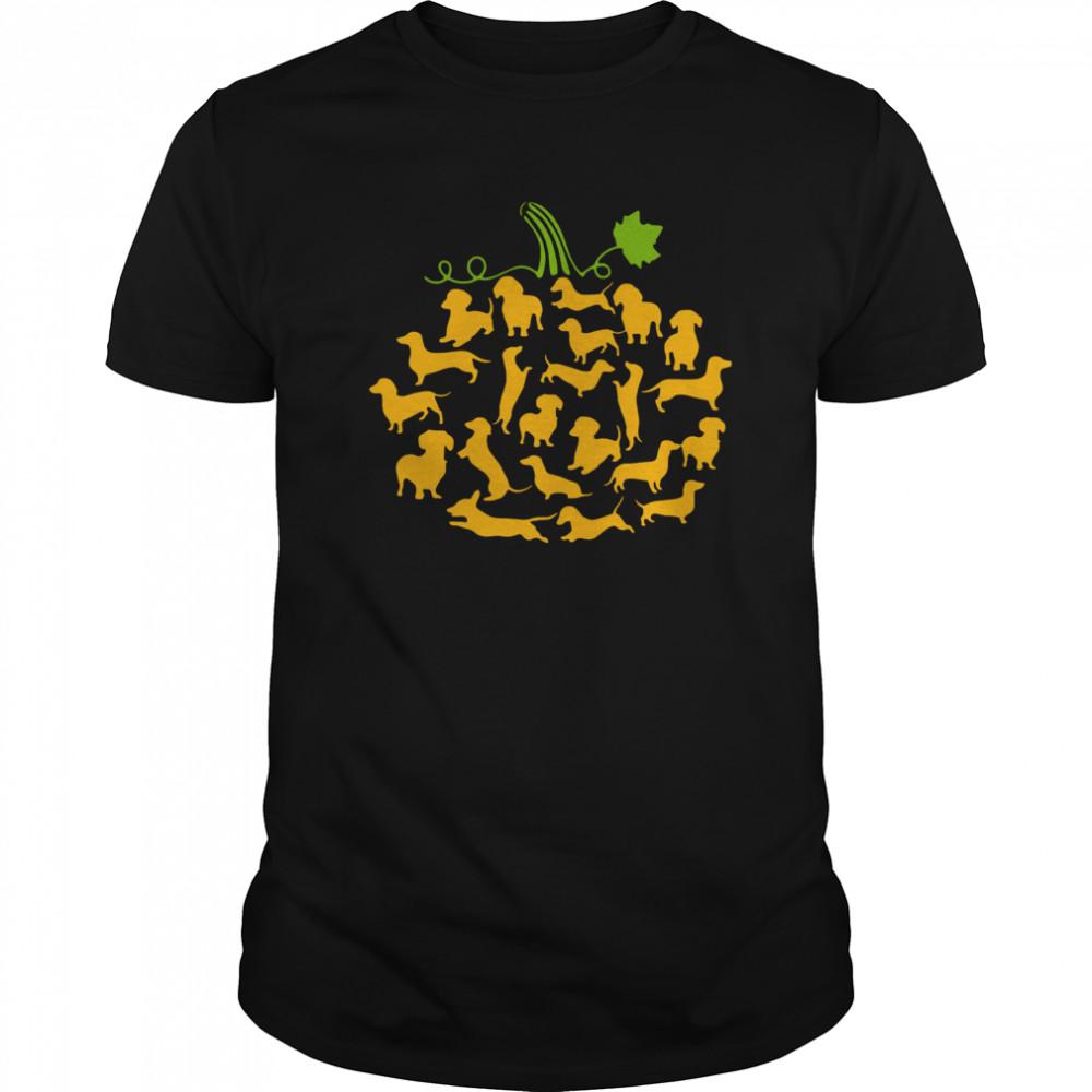 Dachshund Pumpkin Halloween Classic Men's T-shirt