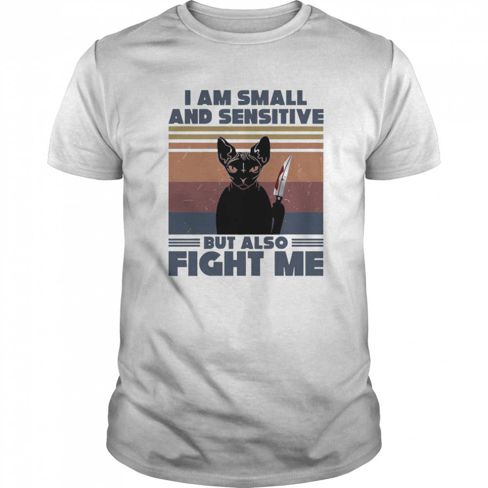 Michael Myers Black Cat I Am Small And Sensitive But Also Fight Me Halloween Classic Men's T-shirt