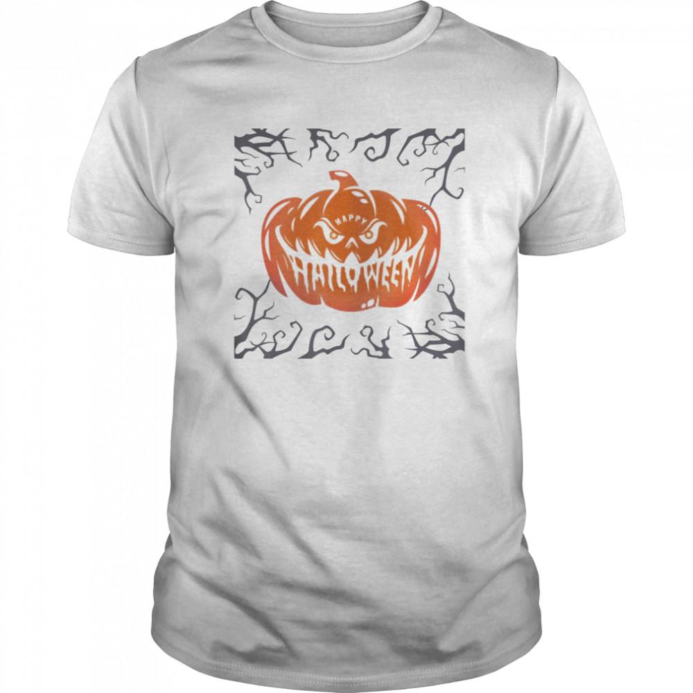 Scary Night Pumpkin Face Classic Men's T-shirt