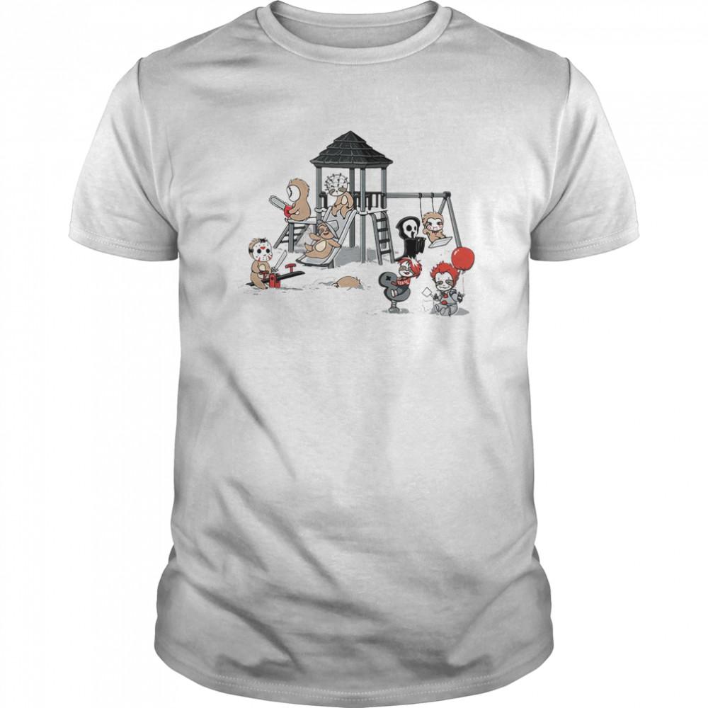 Sloth Horror Movie Characters Halloween Classic Men's T-shirt