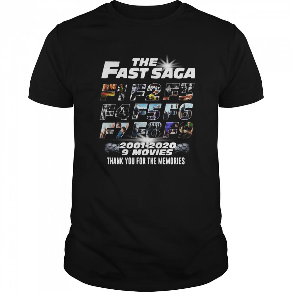 The Fast Saga 2001 2020 9Movies Classic Men's T-shirt