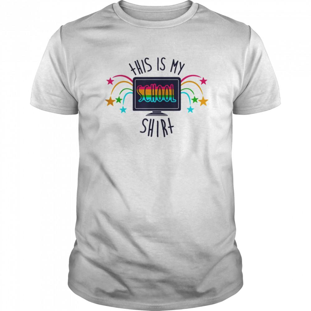THIS IS MY SCHOOL SHIRT Back to School 2020 Classic Men's T-shirt