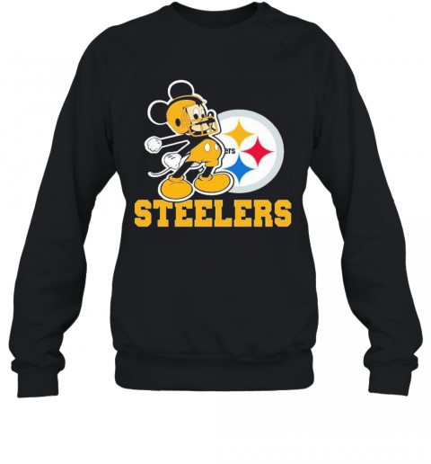 Mickey Mouse Pittsburgh Steelers Football Logo Team T-Shirt Unisex Sweatshirt
