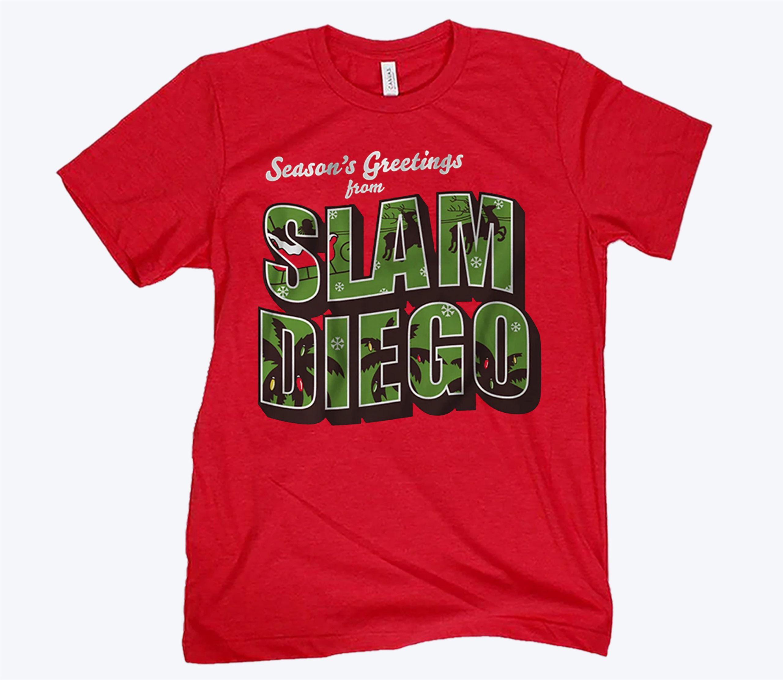 Season's Greetings from Slam Diego Official Christmas Tee Shirt