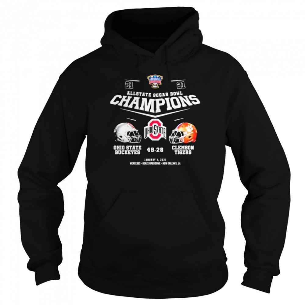 Allstate sugar bowl champions ohio state buckeyes 49 28 clemson tigers  Unisex Hoodie