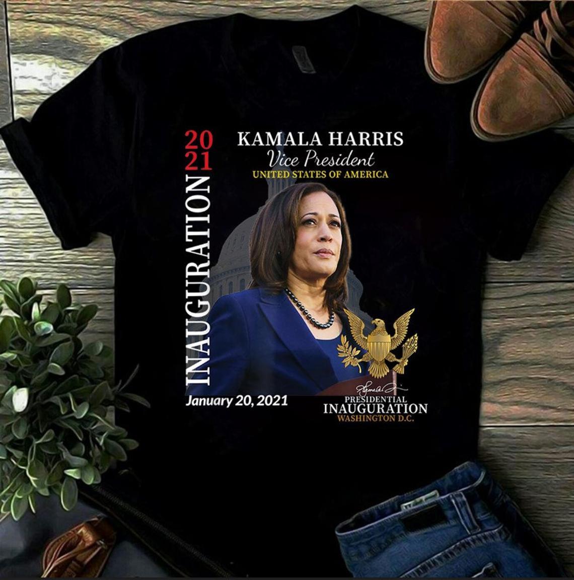 Kamala Harris 2021 Inauguration Day Commemorative Souvenir T-Shirt, Biden Harris Shirt, 46th President Shirt, Joe Biden Shirt