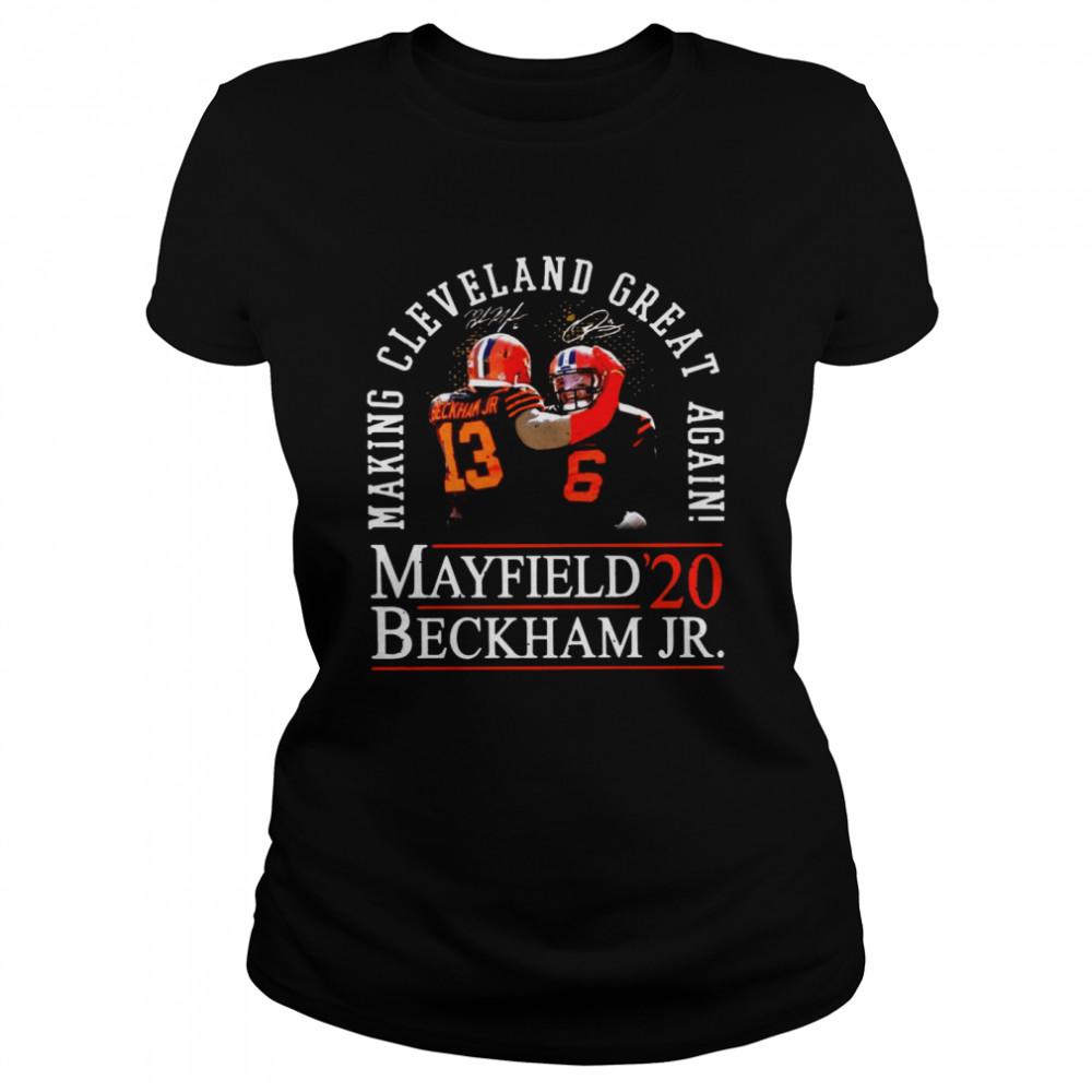 Making Cleveland Browns Great Again Mayfield Beckham Jr 20  Classic Women's T-shirt