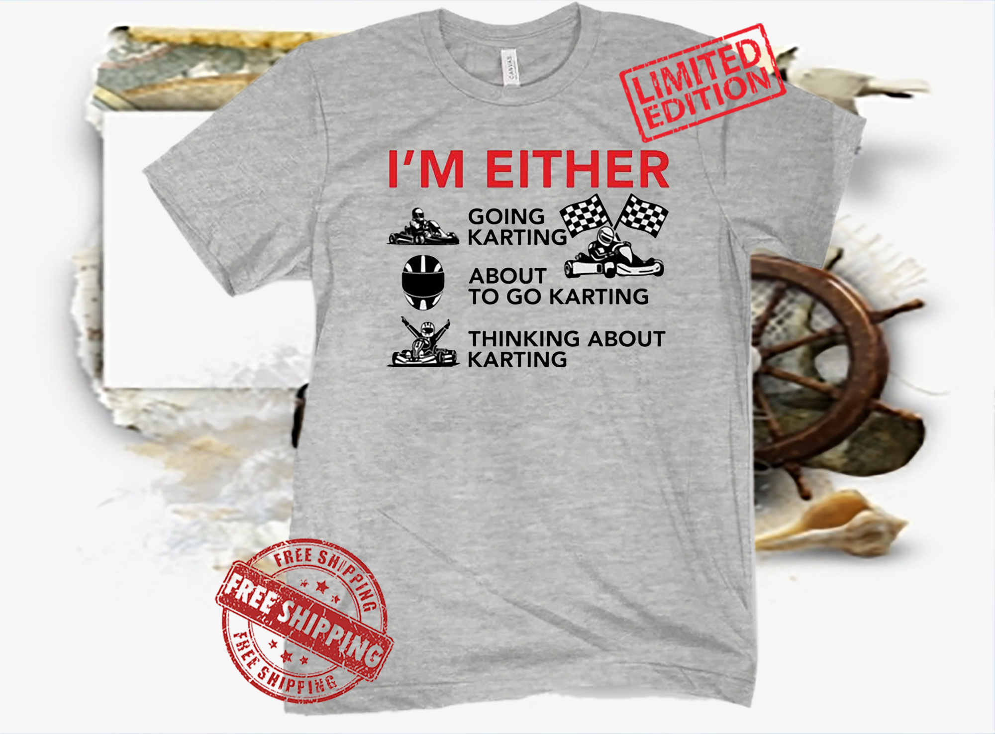 I'm Either Going Karting About To Go Karting Official T-Shirt
