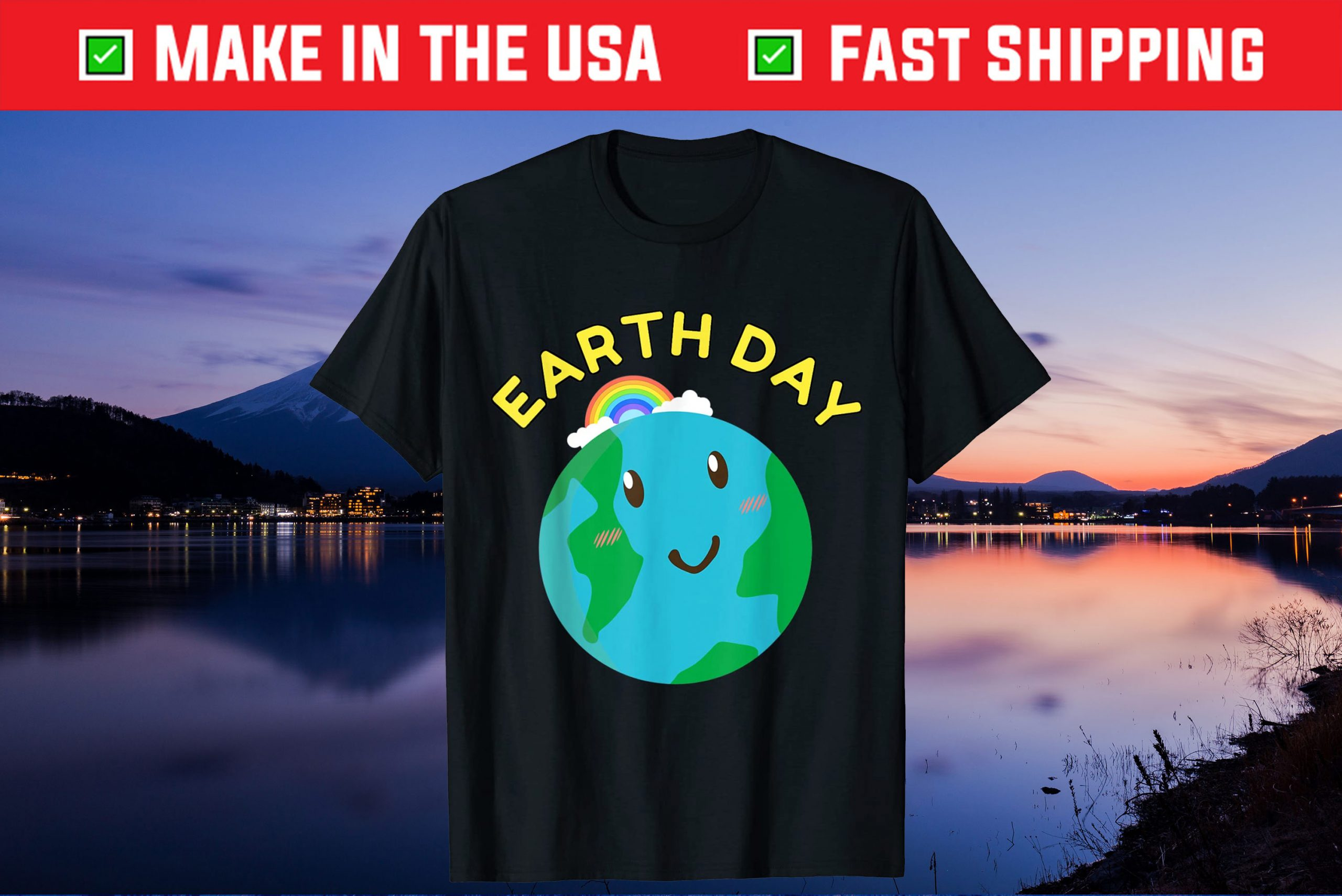 Earth Day Environmental Awareness Save Planet II Us 2021 T-Shirt