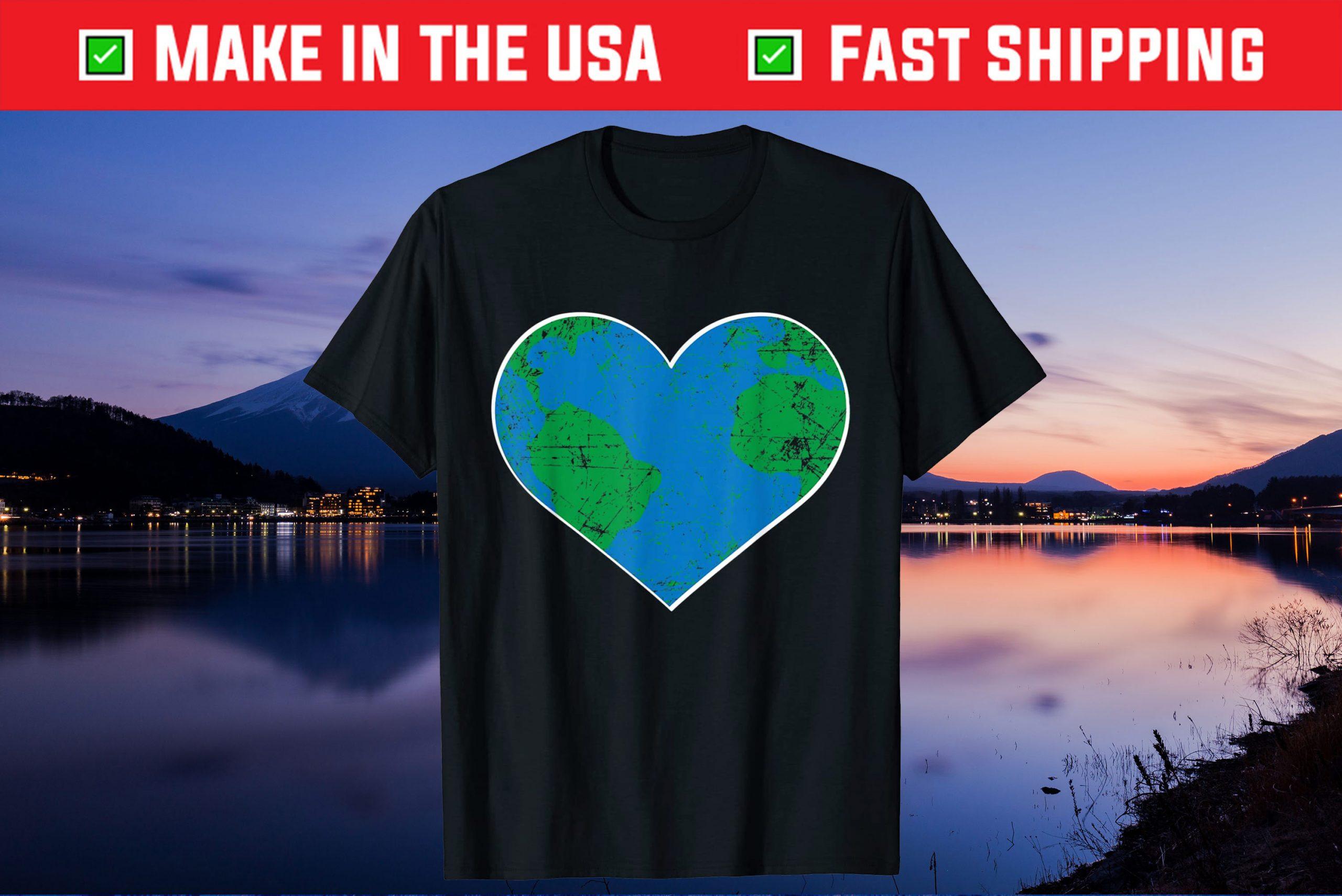 Earth Heart Shirt Earth Day Classic T-Shirt